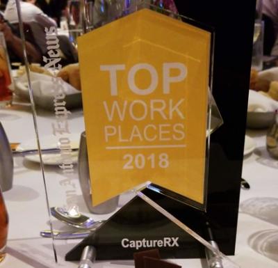 CaptureRx Top Workplaces Award