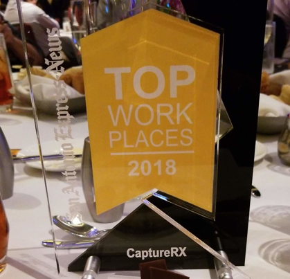 CaptureRx Top Workplaces Award