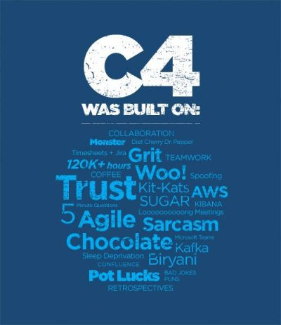 C4 T-shirt Text