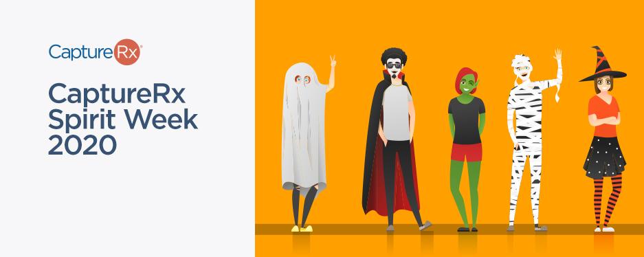 CaptureRx Spirit Week 2020 - Illustrations of Halloween Costumes