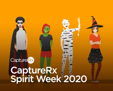 Small Graphic - CaptureRx Spirit Week 2020 - Illustrations of Halloween Costumes