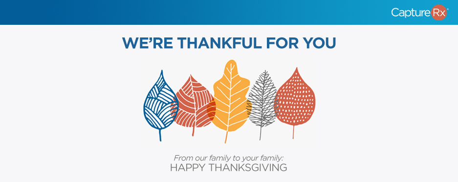 Happy Thanksgiving - Leaves Falling Graphic