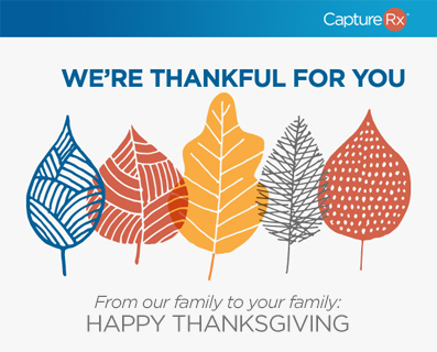Happy Thanksgiving - Leaves Falling Small Graphic
