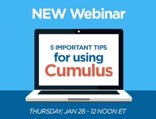 Webinar Series –  5 Important Tips for Using Cumulus