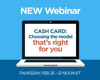 New Webinar - Cash Card