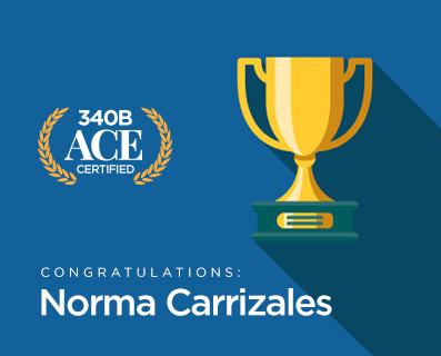Norma Carrizales - ACE Certified - Graphic of a Trophy