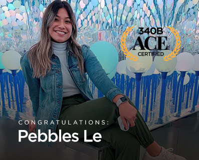 """Small Graphic with Trophy - """"Congratulations to Pebbles Le"""""""