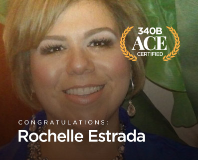 """Small Graphic with Trophy """"Rochelle Estrada - ACE Certified"""""""